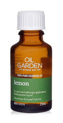 Oil Garden Lemon Pure Essential Oil is stimulating and enlivening for: Acne, oily skin, warts, corns, cold and flu