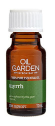 Oil Garden Myrrh Pure Essential Oil is inspiring, warming and fortifying for: Fungal infections, cold & flu and mucous congestion.