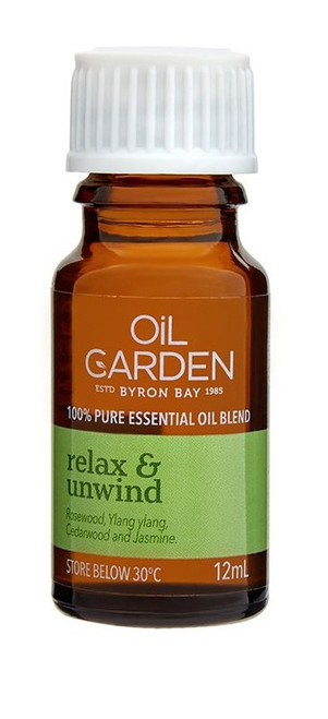 Oil Garden Relax & Unwind Essential Blend Oil is providing feel life's tensions slip away, relax the soul and soothe the spirit with a blend of sweet and sensual essential oils.