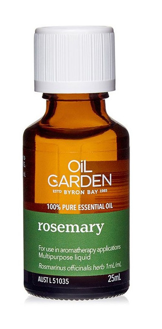 Oil Garden Rosemary Pure Essential Oil is enhances creativity and focus for headaches, arthritis, rheumatic pain and muscular aches and pains.