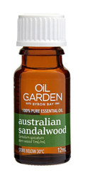 Oil Garden Australian Sandalwood Pure Essential Oil is meditative and stabilising for relaxation and cystitis.