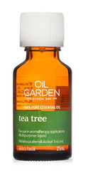 Oil Garden Tea Tree Pure Essential Oil is a protecting, strengthening and fortifying oil for: Cuts, abrasions, insect bites, stings, acne, sinusitis and mild upper respiratory tract infections