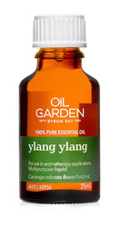 Oil Garden Ylang Ylang Pure Essential Oil is a calming, sensual, meditative and warming oil for: Stress, mild anxiety, irritability, mood swings, nervous tension and insomnia.