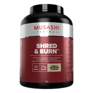 Musashi Shred and Burn Vanilla promotes fat burning and builds lean muscle