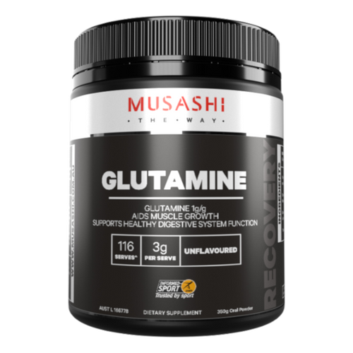 Musashi Glutamine is an important energy source for the immune and digestive systems for times of strenuous exercise or stress.