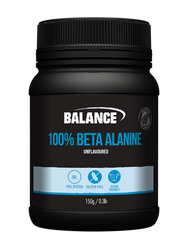 Balance Sports Nutrition 100% Beta Alanine is a naturally occurring amino acid that is one of the building blocks of carnosine, a molecule that helps buffer acid in muscles, which can lead to greater athletic performance and prevent muscle fatigue.