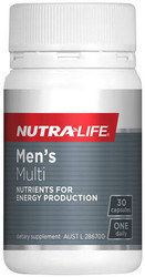 Nutra-life Men's Multi is specially formulated for men with 19 daily nutrients including B Vitamins, Tribulus and Siberian ginseng. Nutra-Life Men's Multi supports male reproductive health, as well as energy production and performance.