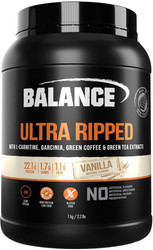 Balance Sports Nutrition Ultra Ripped Vanilla is a is a high protein, gluten free blend of Whey Protein Isolate, Whey Protein Concentrate, Garcinia Cambogia, L-Carnitine, Green Coffee extract and Green Tea extract to reach your lean muscle goals.