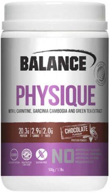 Balance Sports Nutrition Physique Chocolate is an advanced formula with high protein to support maintenance of muscle and bones.
