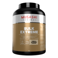 Musashi BULK Extreme Vanilla milkshake flavour provides your body with calories and key macronutrient protein, to help your muscles grow and repair.