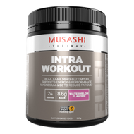 Musashi Intra-Workout Watermelon is a BCAA, EAA & Mineral Complex to support muscle protein synthesis, energy and performance