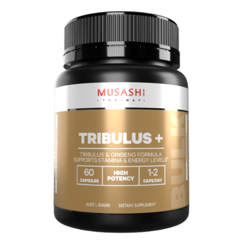 Musashi Tribulus+ is a potent herbal formulation of Tribulus and Korean ginseng to support stamina and energy levels