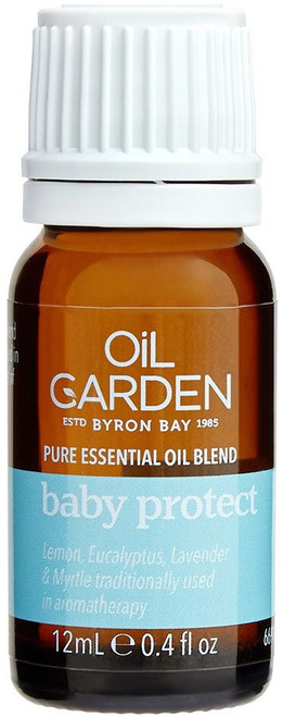 Oil Garden Baby Protect Essential Blend Oil with decongestants Eucalyptus and Myrtle to relieve colds,flu, Mucous Congestion, Sinusitis, Bronchial Cough, Mild Upper Respiratory Infection, Headaches and Hayfever.