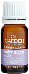 Oil Garden Baby Sleep Essential Blend Oil with calming Sweet Orange, Mandarin, Lavender and Roman Chamomile for relief of insomnia, sleeplessness, nervous tension, restlessness, stress or anxiety to prepare for a restful night's sleep.