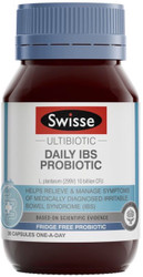 Swisse Ultibiotic Daily IBS Probiotic is a probiotic strain specifically formulated to relieve and manage irritable bowel syndrome (IBS)