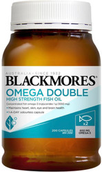 Blackmores Omega Double High Strength Fish Oil maintains heart, skin, eye and brain health and relieves joint swelling and inflammation