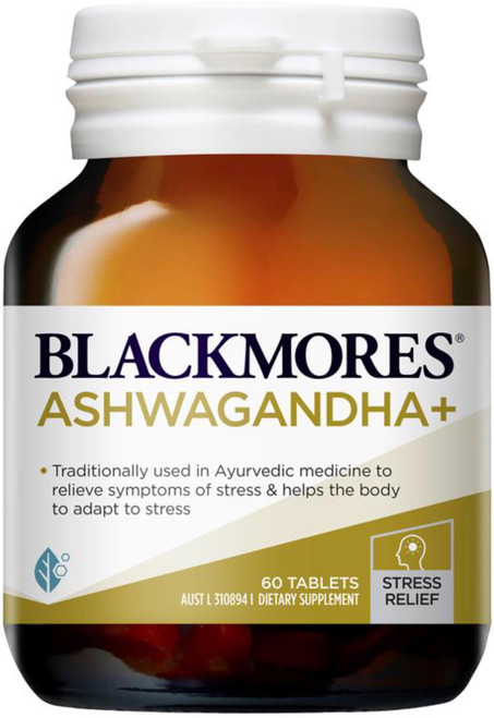 Blackmores Ashwagandha Plus contains Ashwagandha (Withania), a herb traditionally used in Ayurvedic medicine to manage and adapt to stress