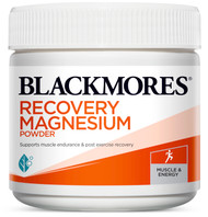 Blackmores Recovery Magnesium magnesium complex to reduce muscle cramps, tension and stiffness and support cardiovascular system