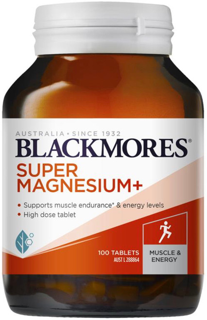 Blackmores Super Magnesium Plus relieves muscle cramps and spasms with added chromium to help support metabolism during exercise