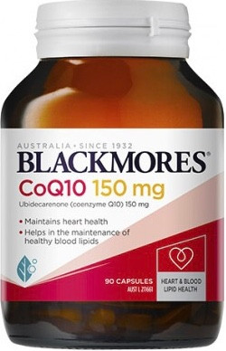 Blackmores CoQ10 150mg is a natural source of coenzyme Q10 and a powerful antioxidant for cellular energy production and the heart