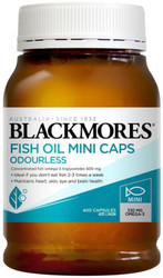 Blackmores Odourless Fish Oil Mini Caps provide the same strength of omega-3s as a standard fish oil 1000g but in a half sized capsule