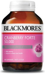 Blackmores Cranberry Forte 50000 is a concentrated cranberry extract to support urinary tract health and cystitis