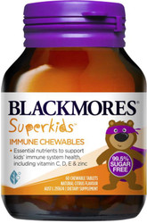 Blackmores Superkids Immune 99.5% sugar free formulation to support kids' immunity