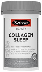 Swisse Beauty Collagen Sleep supports collagen formation, improve skin elasticity and relieve restless sleep