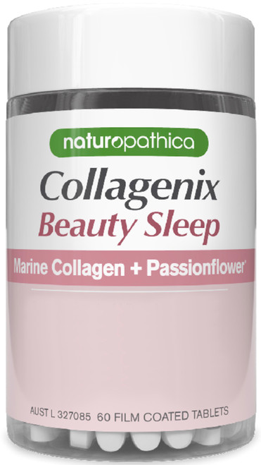 Naturopathica Collagenix Beauty Sleep supports skin elasticity and promotes a refreshing sleep