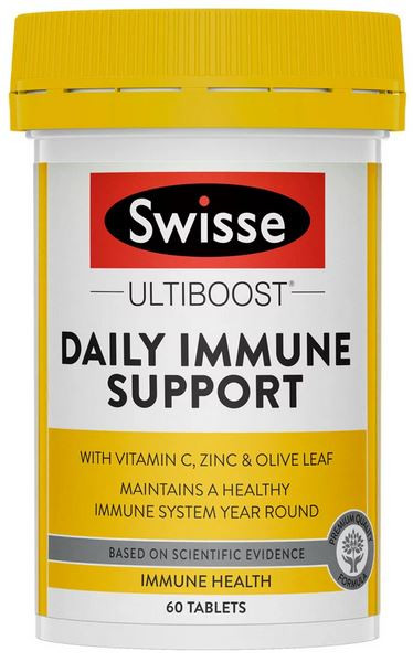 Swisse Ultiboost Immune Daily Support maintains healthy immune function and relief from cold symptoms