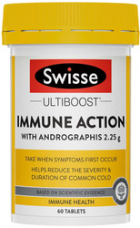 Swisse Ultiboost Immune Action contains Andrographis to reduce the severity and duration of common colds, Tonsillitis & Sinusitis