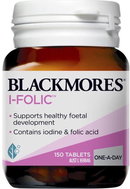 Blackmores I-Folic one-day-dose of folic acid and iodine for preconception and pregnancy