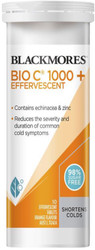 Blackmores Bio C 1000+ Effervescent with Vitamin C, Echinacea and Zinc reduces the severity and duration of common cold symptoms, supports Vitamin C and Xinc levels for your immune system