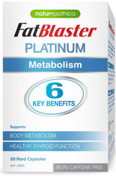 Naturopathica FatBlaster Platinum Metabolism with SLENDACOR plus chromium and iodine supports Body Metabolism, Sugar and Fat Metabolism, Healthy Thyroid Gland Function and Energy Production.