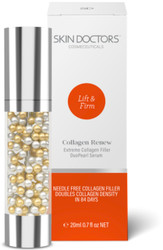 Skin Doctors Collagen Renew DuoPearl Serum needle-free collagen filler that doubles collagen density for plumper looking skin in 84 days