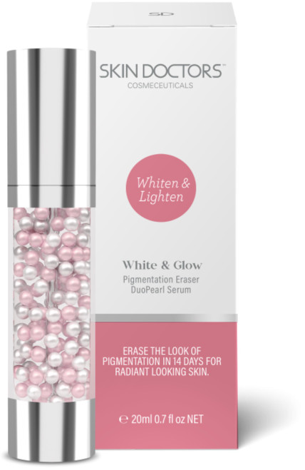 Skin Doctors White & Glow DuoPearl Serum pigmentation eraser lightens & brightens complexion in 14 days for glowing, radiant-looking skin