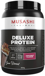 Musashi Deluxe Protein Jam Donut is a delicious protein source for athletes and bodybuilders looking to maximise lean muscle and optimise recovery