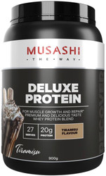 Musashi Deluxe Protein Tiramisu is a delicious protein source for athletes and bodybuilders looking to maximise lean muscle and optimise recovery