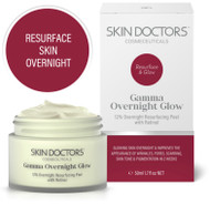 Skin Doctors Gamma Overnight Glow Resurfacing Peel with Retinol for glowing skin overnight to improves wrinkles, pores, scarring, skin tone & pigmentation in 2 weeks