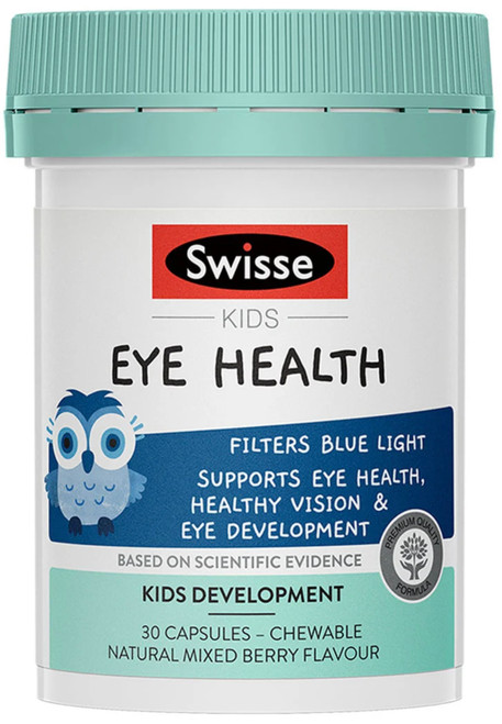 Swisse Kids Eye Health helps kids filter blue light and supports eye health, healthy vision and eye development