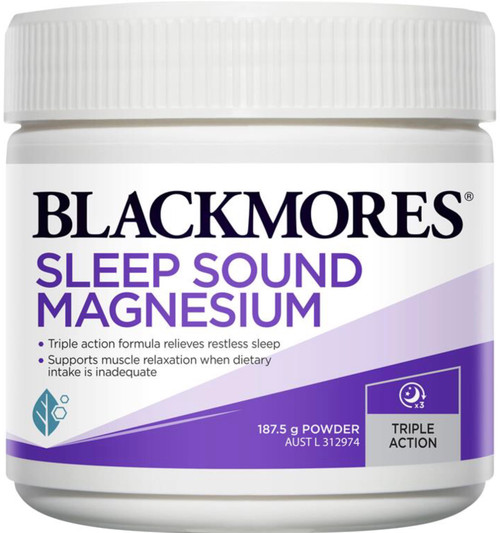 Blackmores Sleep Sound Magnesium is a triple action formula that support mind relaxation and relieve restless sleep