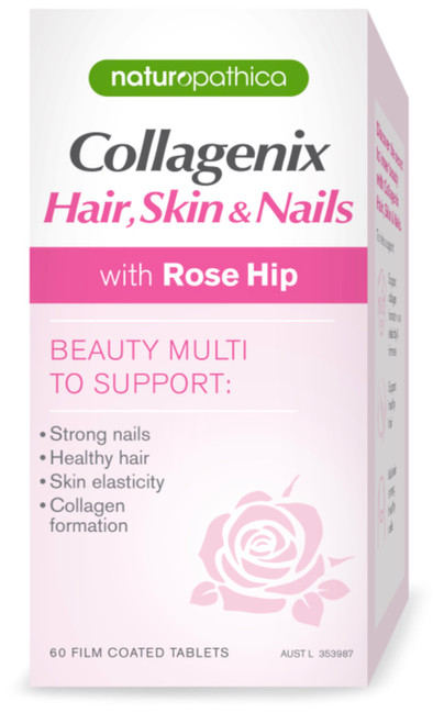 Naturopathica Collagenix Hair Skin & Nails for glowing skin, luscious hair and beautiful nails
