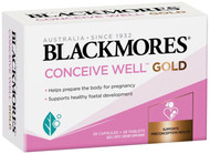 Blackmores Conceive Well Gold is formulated for pre-conception care, supplying the nutrients needed in preparation for conception and pregnancy
