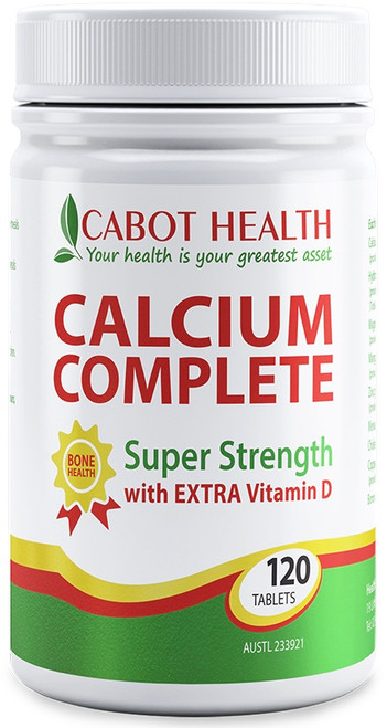 Cabot Health Calcium Complete is a calcium supplement formulated to strengthen bone tissue in growing and mature users