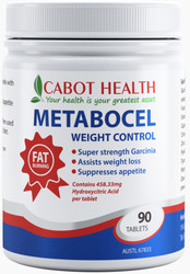 Cabot Health Metabocel Weight Control Tablets  - Super strength Garcinia (brindleberry) formula