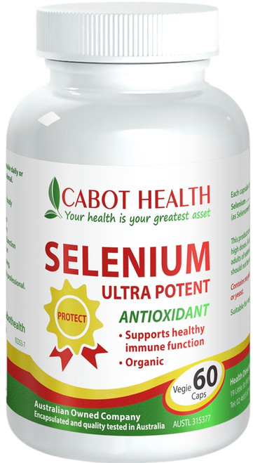 Cabot Health Selenium Ultra Potent Anti-Oxidant - For the prevention of selenium deficiency, a healthy immune system and maintaining efficiency of thyroid function