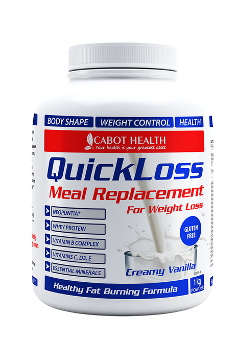 Cabot Health QuickLoss Meal Replacement Tub - designed to support metabolism and digestion and to avoid intestinal bloating - Jump start your diet with QuickLoss