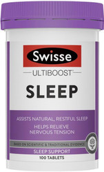 Swisse UltiBoost Sleep promotes calmness and relaxation, and relieves nervous tension and promoting natural, restful sleep