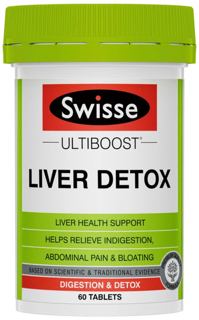 Swisse UltiBoost Liver Detox helps support liver health and aid Detoxification and Digestion