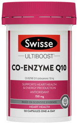 Swisse UltiBoost Co-Enzyme Q10 helps support heart health, circulation, stamina and energy